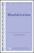 Sheet music cover image for choral arrangement of Hashkiveinu