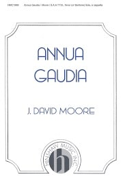 Sheet music cover image for choral composition Annua Gaudia
