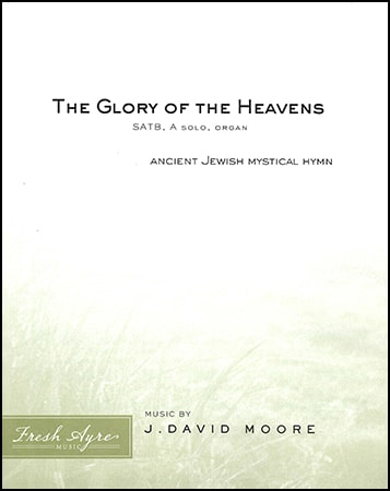 Sheet music cover image for choral arrangement of The Glory of the Heavens