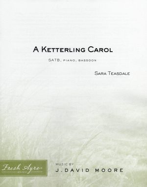 Sheet music cover image for choral composition A Ketterling Carol