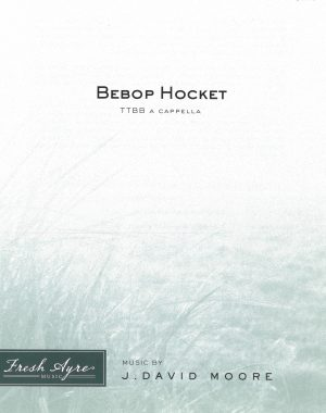 Sheet music cover image for choral composition Bebop Hocket