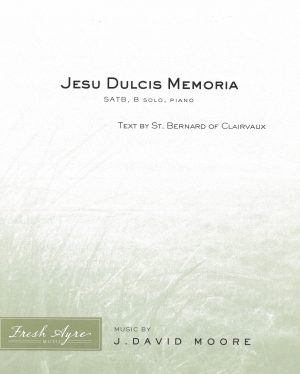 Sheet music cover image for choral composition Jesu Dulcis Memoria