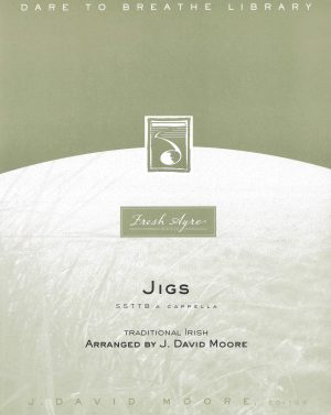 Sheet music cover image for choral composition Jigs