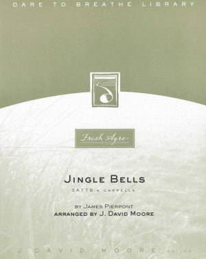 Sheet music cover image for choral arrangement of Jingle Bells