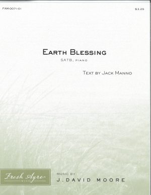 Sheet music cover image for choral composition Earth Blessing