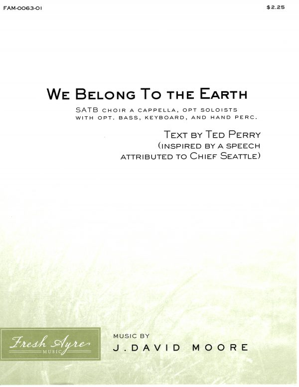 We Belong To the Earth 1