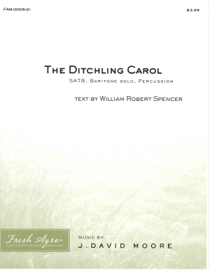 Sheet music cover image for choral composition The Ditchling Carol
